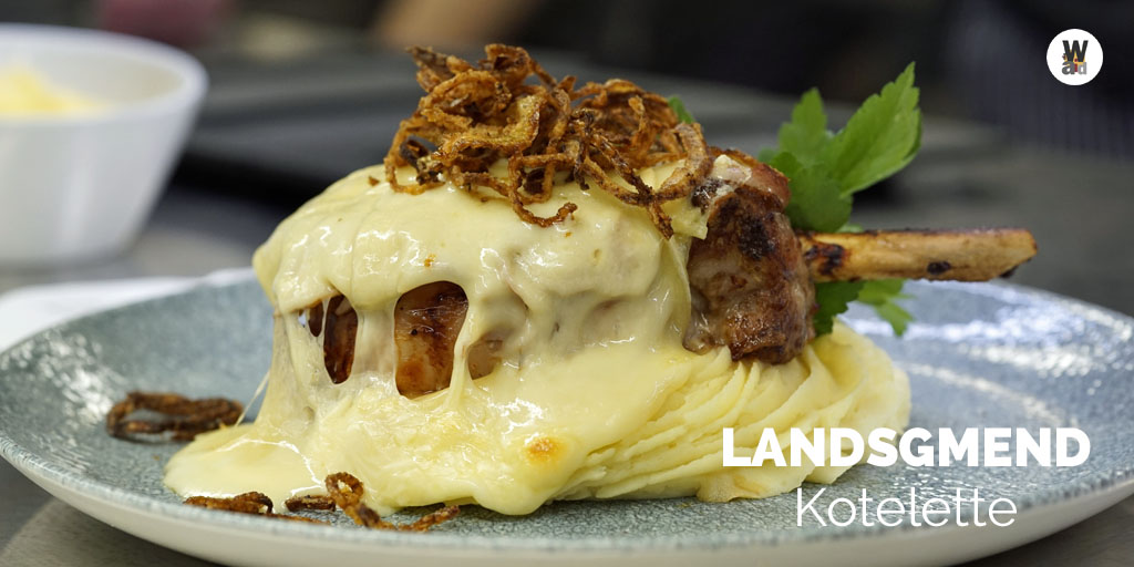 Landsgmend 🥩Kotelette - Fried cutlet of #pork gratinated with ham and 🧀#racelette cheese, served with mashed potatoes, garnished with deep fried onion rings, served with 🍷Port wine sauce. Enjoy! #foodie https://t.co/u6CwQzqFQW