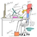 机に向かっての作業時間が長い方は是非!こうすると身体が楽になるかも?