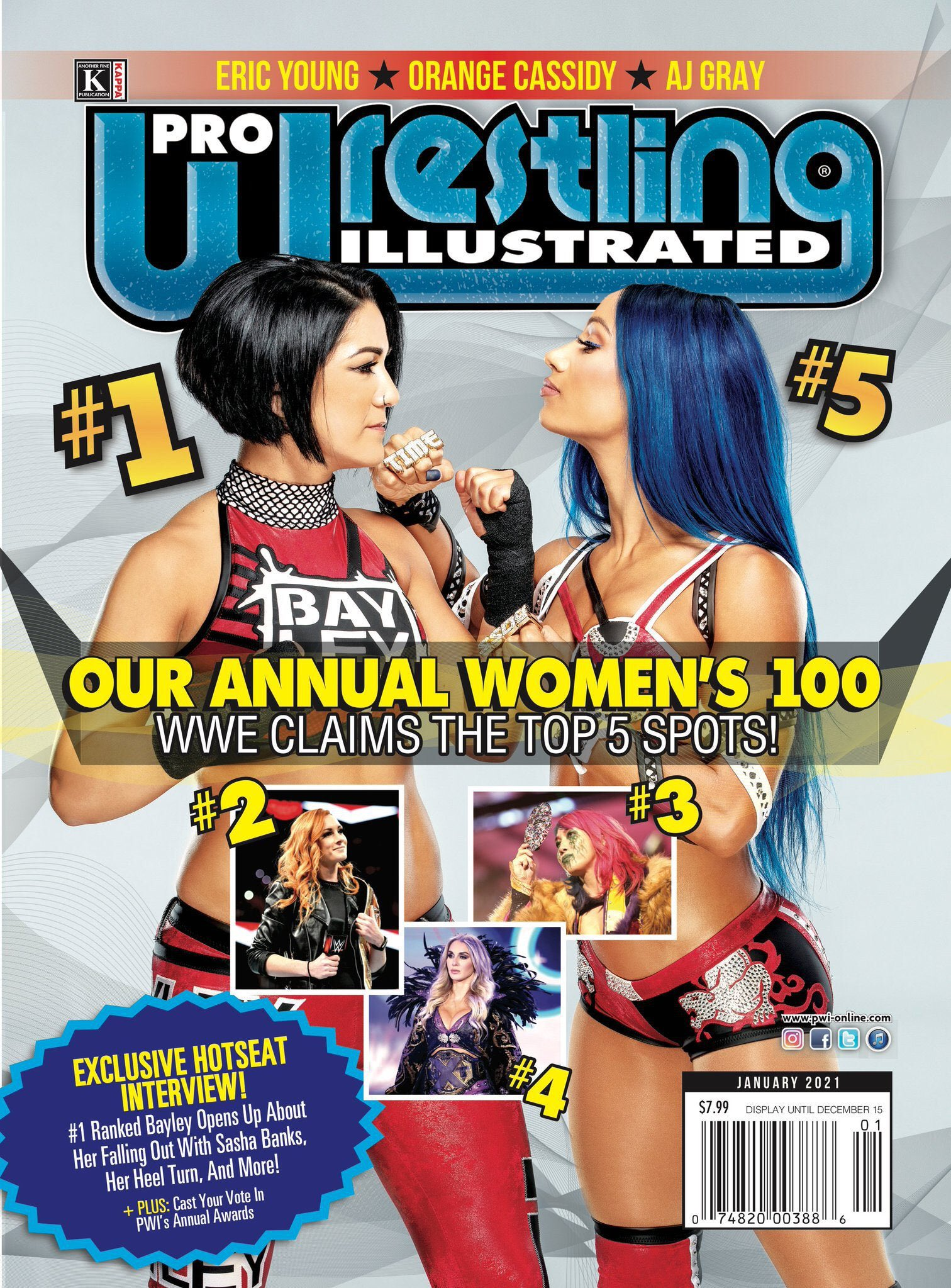 WWE Congratulates Top 5 Female Wrestlers Of 2020; Top 100 Names Revealed 1