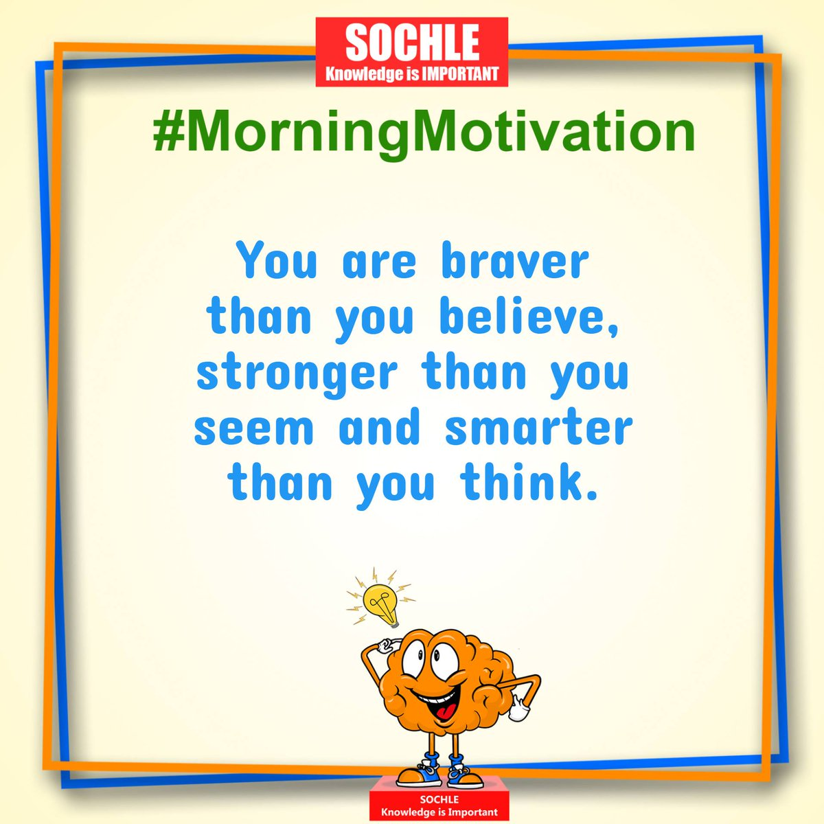 You are braver than you believe, stronger than you seem, and smarter than you think.  Get Positive vibes and Information with our Whatsapp Community!  https://t.co/06WhMsyd8Q  #tuesdaymotivations #tuesdayvibe #Tuesday #quotes #inspirational #MotivationalQuotes #TheSochle https://t.co/Z4JWx8Gdpt