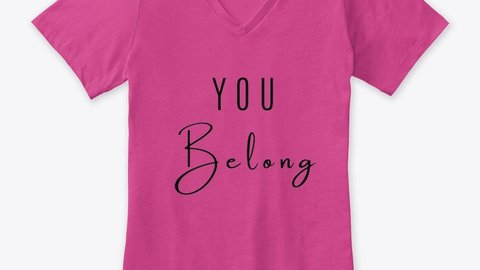 """In a polarized world, """"You Belong"""" t-shirt is an inspirational message of inclusion: regardless of political or religious views, you are welcome in this place. #holidayshopping #HolidayGiftGuide #holidaygifts #holidaygiftideas #activism #activismapparel #inspirational #words https://t.co/pwPXVBx1YR"""