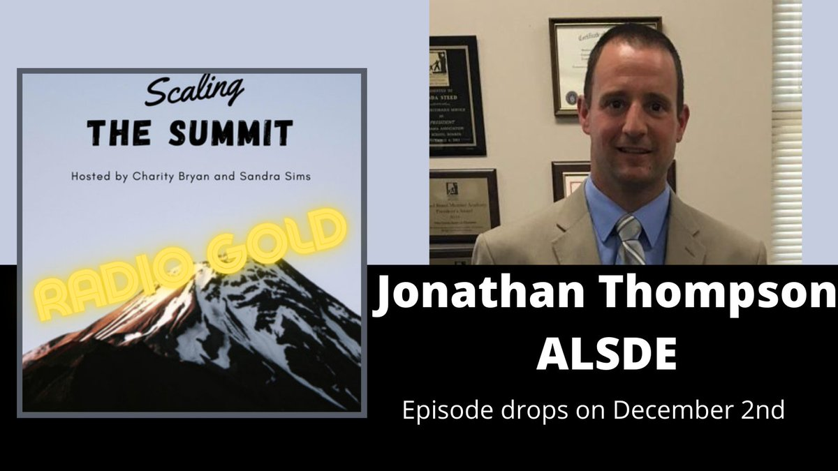 We are excited about our upcoming episode featuring @AlabamaAchieves Jonathan Thompson.  Jonathan takes about quality #physed and #leadership.   Episode drops Wednesday!! https://t.co/FhR9gpS4E0