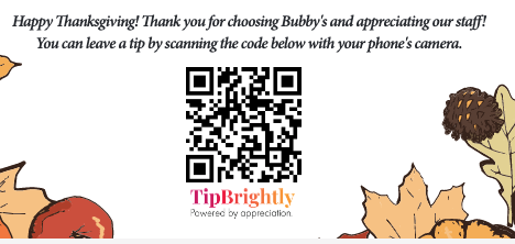 Guess how many tips this little QR code placed inside a gift basket generated on #Thanksgiving Day? Want to know how it works? Just follow the instructions:  #hotels #restaurants #bars #food #delivery #hospitalitystrong #tourism i❤️#nyc #travel #tipping #serviceworkers #gratitude https://t.co/1NbSLCCp76