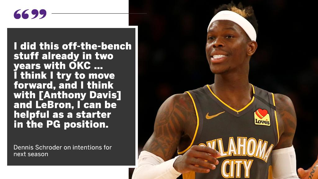 Dennis Schroder is looking to make an impact as a starter for the Lakers 💥 https://t.co/8zGMsASc34