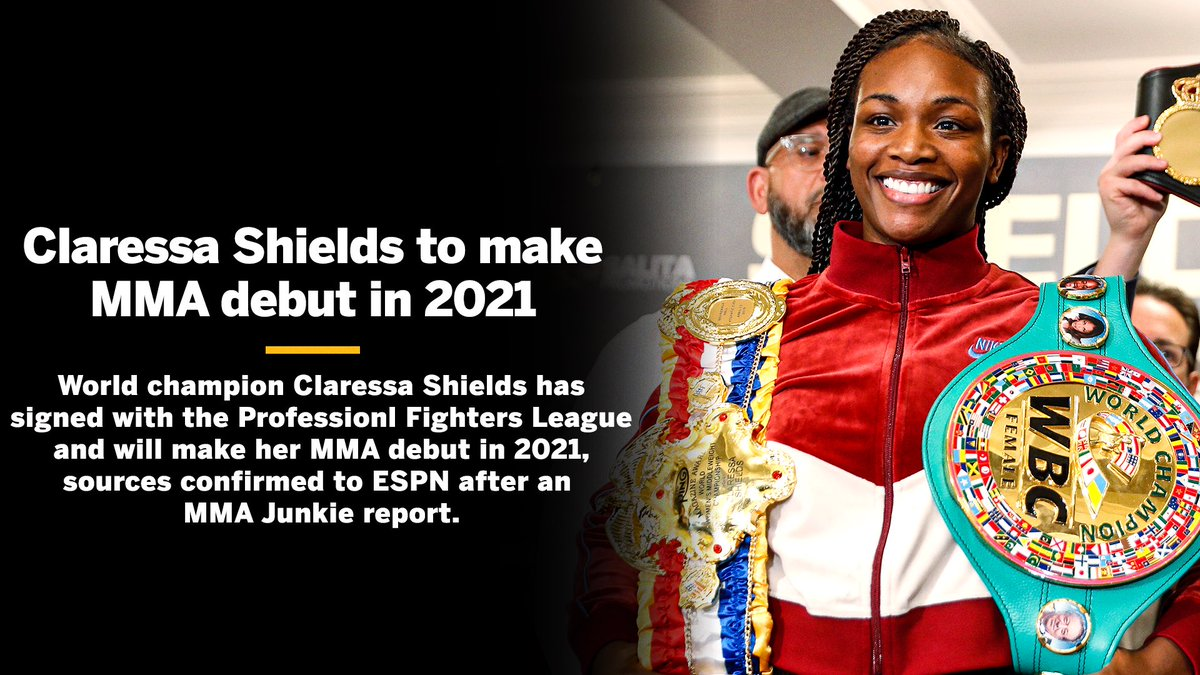 🥊 ↔️ 👊  @ClaressaShields will try her hand at MMA in 2021.