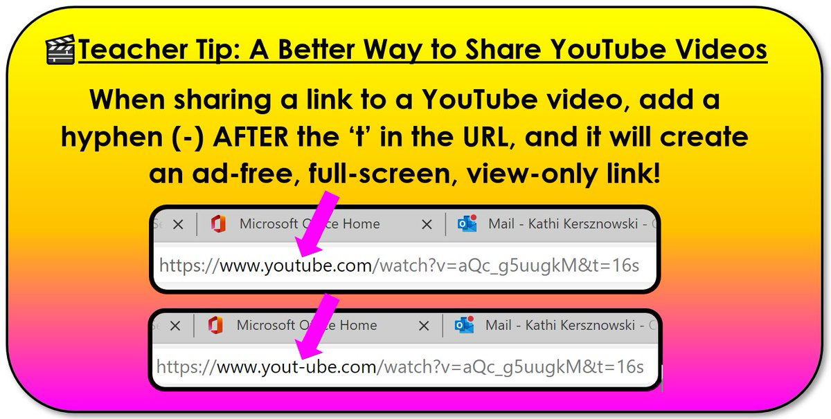A tip for teachers who share YouTube videos. #edtech