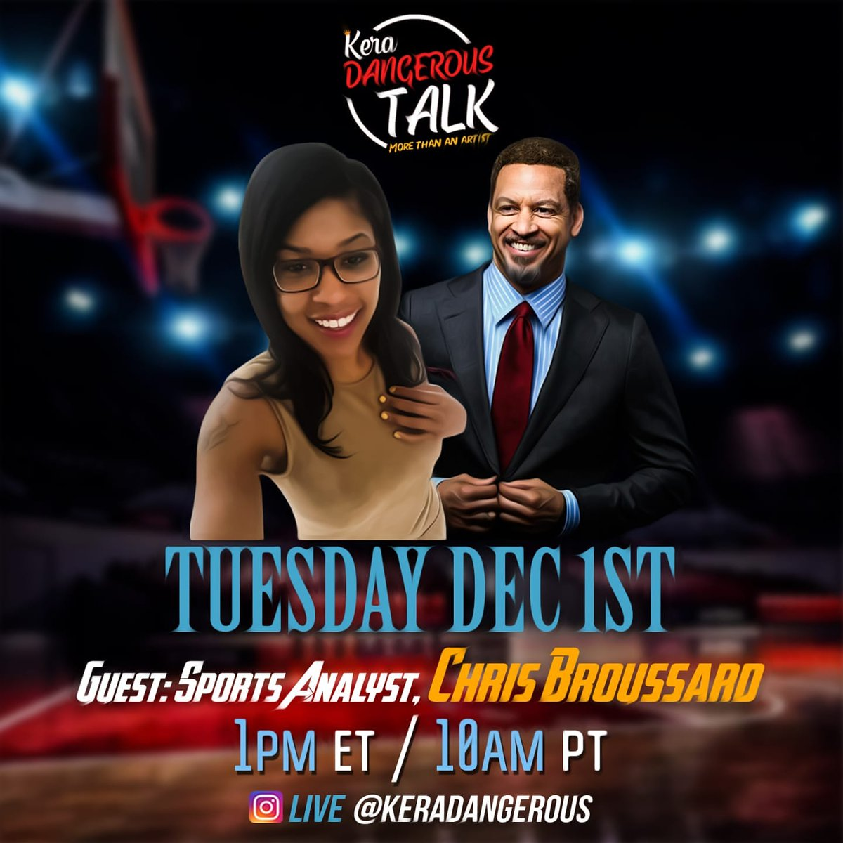 Tomorrow afternoon I'm going IG live with @Chris_Broussard  #sports #PodcastRecommendations #keradangeroustalk  #podcastlife #podcastersofinstagram #podcastandchill https://t.co/GOp2JWyv9L