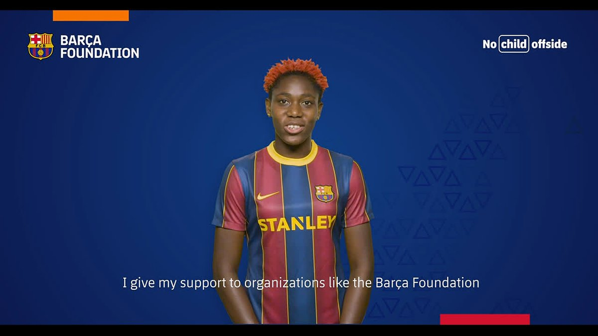 📆☝🏼 Today is #GivingTuesday!  🔵🔴 This year we are not asking for donations, but instead we are sending encouragement to our program participants together with @FCBfemeni players! @AitanaBonmati @AsisatOshoala