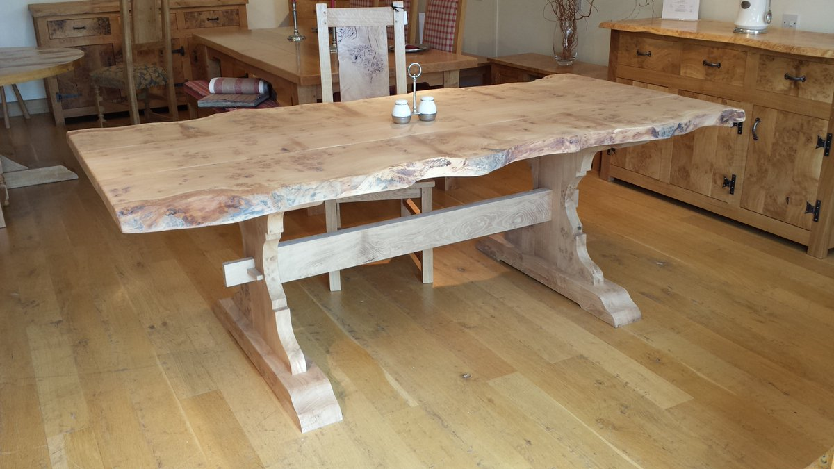 Handmade dining tables made to order at our Sussex workshop using oak from sustainable sources the oak we use is FSC certificated from well managed forests, helping the environment and locally sourced. #oakfurniture #oaktables #handmade #furniture