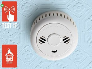 Its Tuesday don't forget to test your smoke alarm. Push the button and not your luck #testittuesday