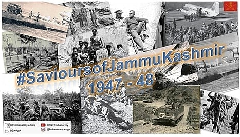 The enemy attacked 'Diamond' Piquet in #Uri Sector held by 'B' Company 4 KUMAON. The attack lasted for three hours but was successfully repulsed by gallant troops of #IndianArmy. (55/n)  #SavioursofKashmir1947 #ThisDayThatYear
