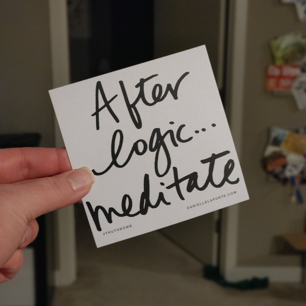 "Day #251 of @DanielleLaPorte #truthbomb  ""After logic... Meditate""  #thoughtoftheday #InItTogether #WeGotThisWA #mindfulness #BeKind #BePositive #wellness #StayHome #gratitude #MondayMotivation #MondayMood #WashYourHands #WearAMask #WearADamnMask #AloneTogether #TogetherWeCan https://t.co/LUI0DJaojT"