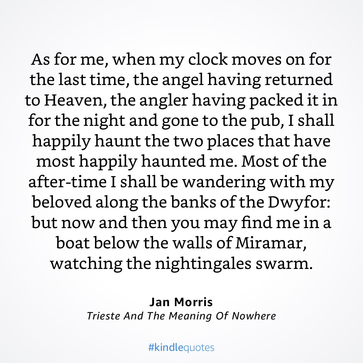 Very much moved to read this — the ending to Jan Morris's TRIESTE — in the days just after her death. How not? https://t.co/CrpQzo03qq