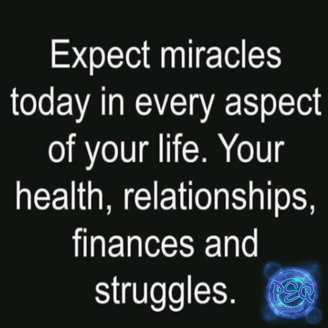 Expext miracles today in every aspect of your life. Your health, relationships, finances and struggles. FOLLOW ➡️ @posenergyquotes ☮️ #positivity #positivevibe #motivationalquotes #goodthoughts #goodvibes #positivemindset #positiveenergy #positiveenergyquotes https://t.co/I4Nw3e2Ut0