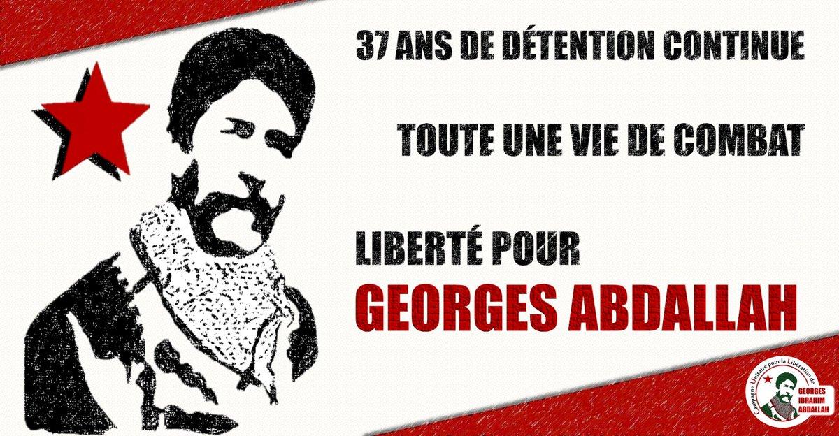 #FreeGeorgesAbdallah, toute une #vie de combat*.  #France #Macron #LibertéGeorgesAbdallah  (Campagne unitaire pour la #libération de #GeorgesIbrahimAbdallah) https://t.co/MvAGzLboDy