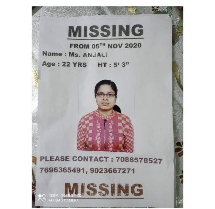 #MISSING Dr Anjali MBBS 2017 batch GMCH Chandigarh missing since 5th November. Please share and help 🙏🏻