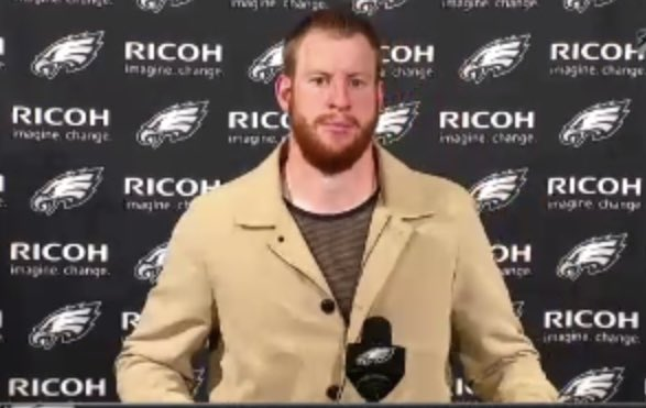 """Carson Wentz   """"We're frustrated. I'm frustrated.  I hate losing. We're looking ahead to turning this around and to surprise some people""""  """"We've got to be better. I've got to make sure I get everybody on the same page"""""""