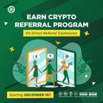 Image for the Tweet beginning: 🔥 The #EarnCrypto Referral Program
