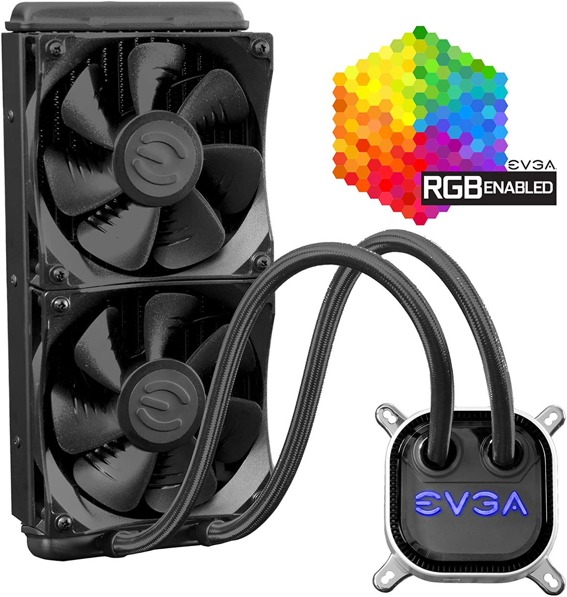 EVGA CLC 240mm All-In-One RGB LED CPU Liquid Cooler  Only $79.99!  2