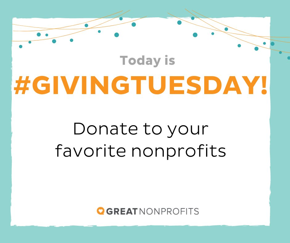 """This year more than ever, nonprofits are contributing essential services to those in need. You can have make an impact by donating your time or money today. #givingtuesday  Get started with our """"Top-Rated"""" nonprofits list here:"""