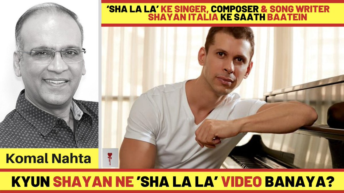 Singer, composer and song writer Shayan Italia talks about his latest video 'Sha la la' which talks about love without boundaries of any kind. Click the link below for an insightful interview with the multi-faceted personality! 📽️🔗👉  #ShayanItalia