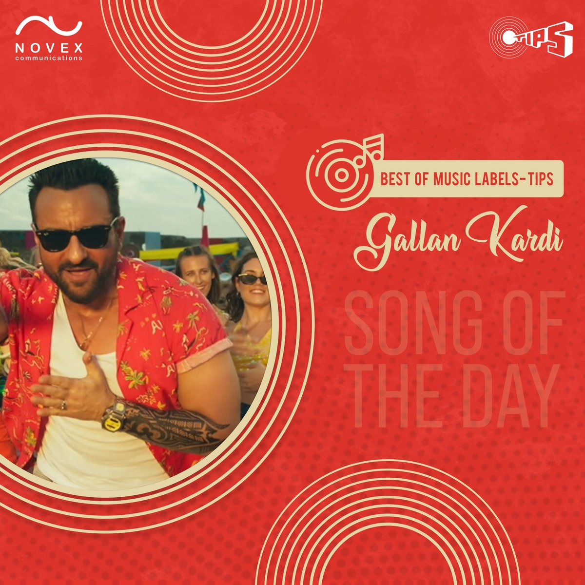 Put your hands in the air and groove to Gallan kardi! To buy, Public Performance Rights of @tipsofficial, call us at +9199201 99977 or visit   #Novex  #novexcommunications #bestofmusiclabels #TipsMusic #musiclicensing #gallakardi #SaifAliKhan #ApplyNow