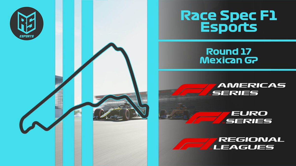 🇲🇽 Tonight we kick off Round 17 of the F1 Regional Series in Mexico!  We're certain they'll be a fair few sends into turn 1 coming off the massive straight 📮  Be sure to tune in on the Race Spec YT Channel (link in bio)  Race times can be found below 👇  #RaceSpec #F1 #F1Esports https://t.co/FOq4zEaeRz