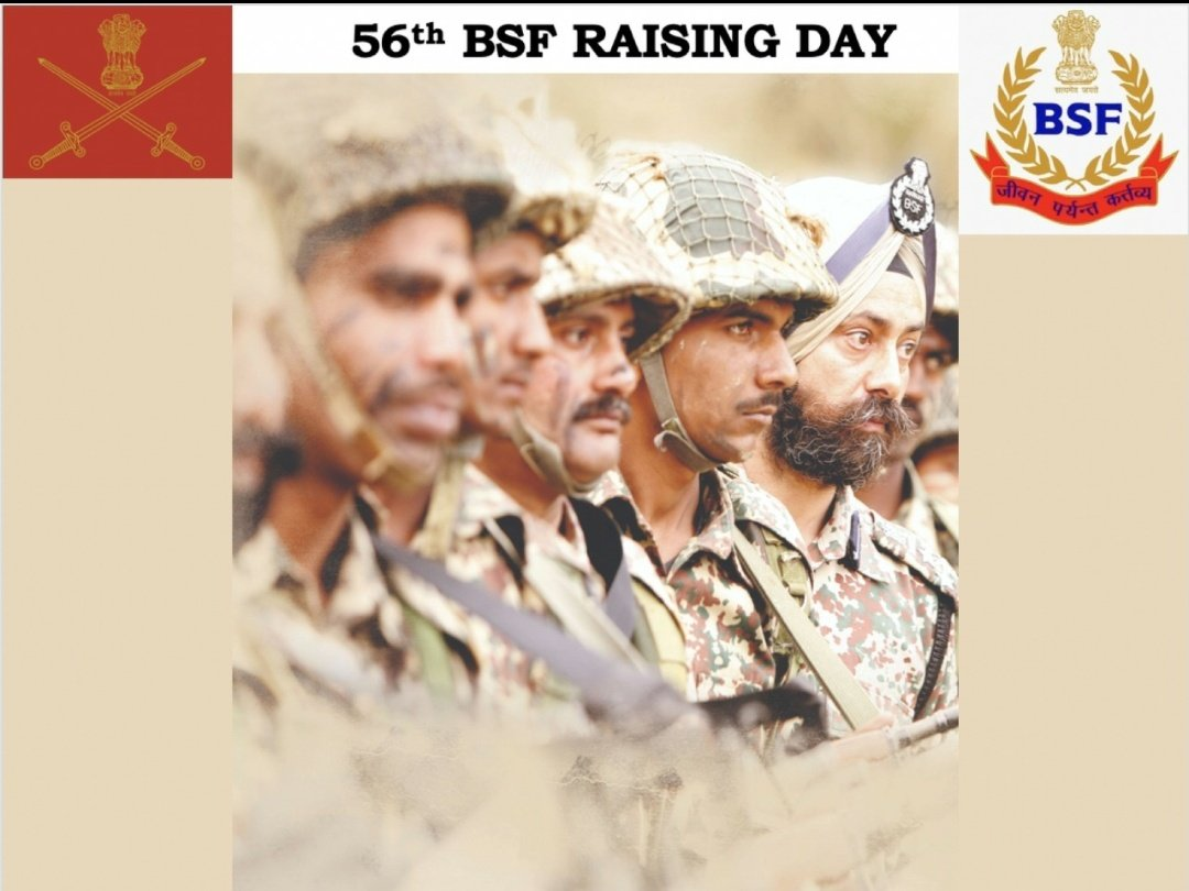 General MM Naravane #COAS and all ranks of #IndianArmy convey best wishes to all ranks of Border Security Force #BSF on the occasion of their Raising Day.
