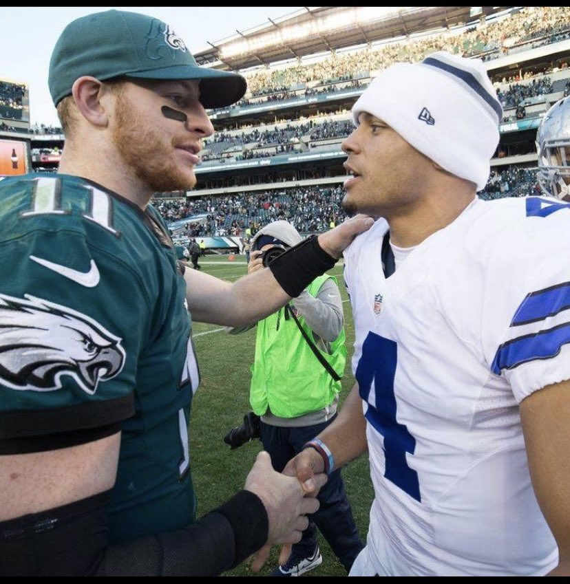 Can't read defenses  Inaccurate passer Need a supporting cast   Everything that was said about Dak Prescott is true about Wentz  Dak is better than Wentz  #Cowboys #BenchWentz