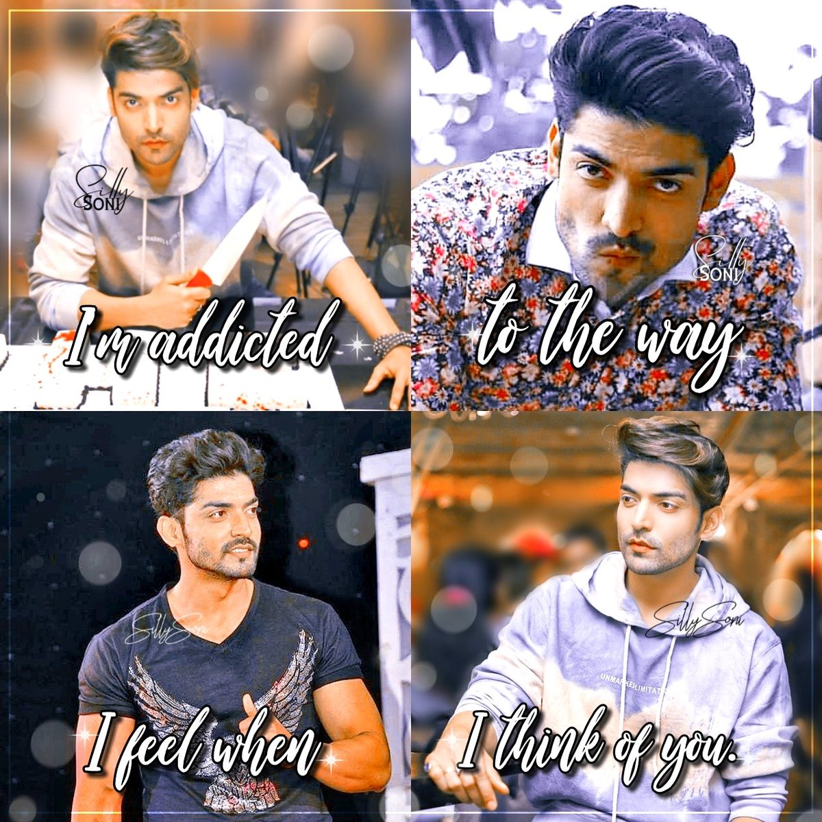 """""""I'm addicted to the way I feel when I think of you"""" 💖  #GurmeetChoudhary https://t.co/9FN8nipTIi"""
