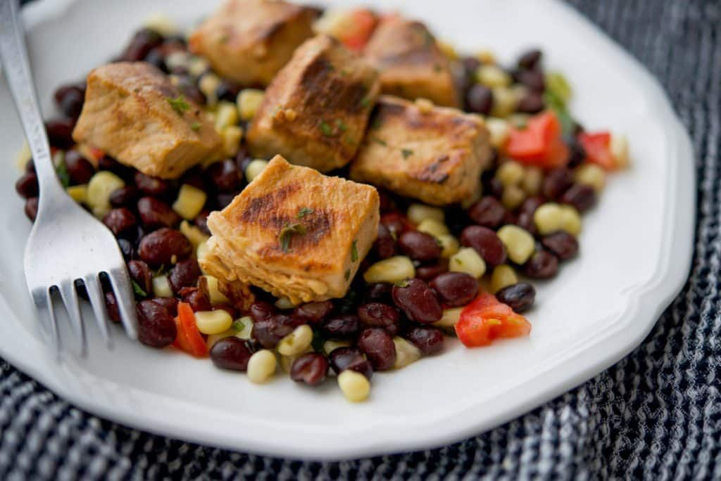 Center cut boneless #pork loin cut into bite sized pieces, marinated in #Tequila, fresh lime juice and herbs; then served over a black bean, corn salsa.https://t.co/NfPY2Sp4gl https://t.co/UrvXf7U7M6