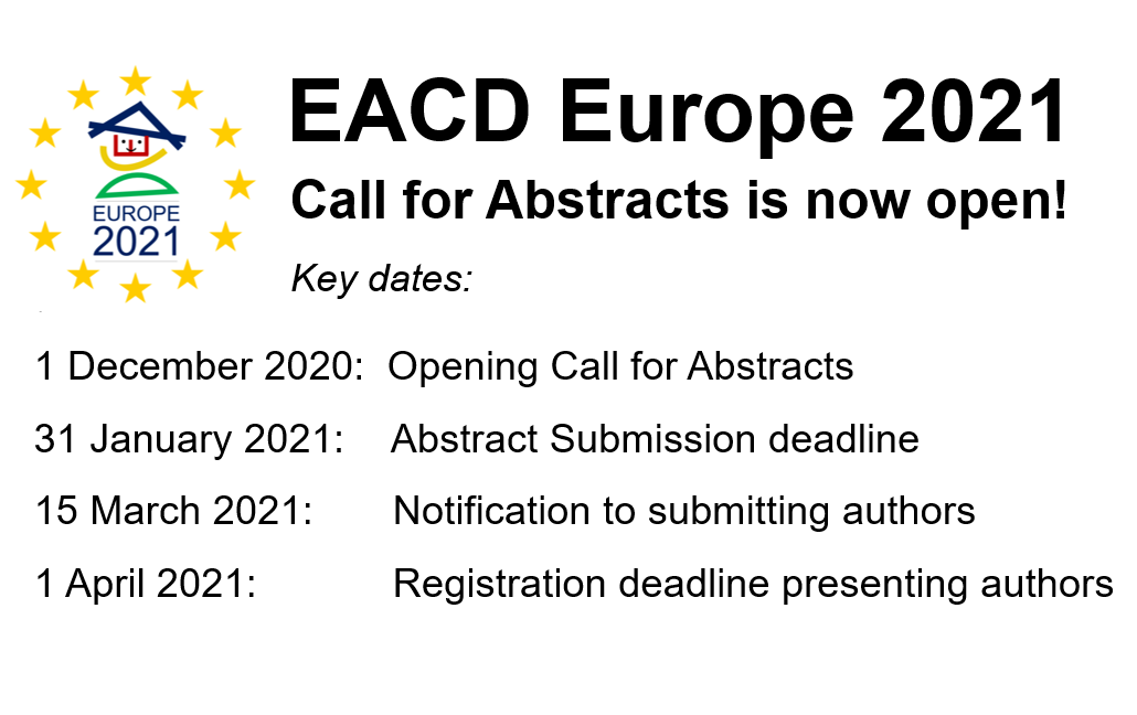 Abstract submission open for #EACD2021 https://t.co/6U0yXLAliO
