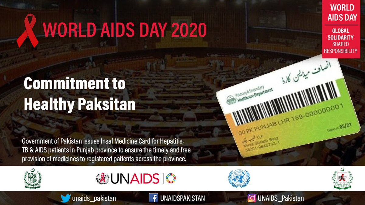 """This year World AIDS Day is observing with The theme of is """"Global solidarity, shared responsibility"""". #WAD2020Pak"""