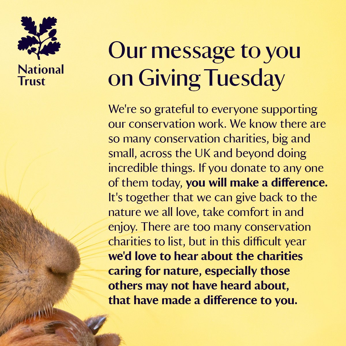 Nature needs you and we need nature, more than ever. #GivingTuesday