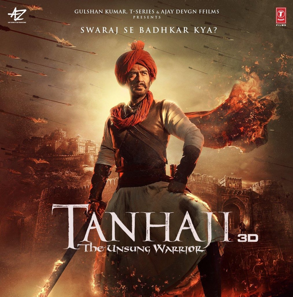 It's LAST Month of the year and here is Final Update of Biggest BLOCKBUSTER of 2020  #Tanhaji  All India Footfalls - 2.27 Crs All India Gross - 324 Crs All India Nett - 278 Crs WW Gross - 357 Crs Budget - 172 Crs Verdict - ATBB @ajaydevgn @itsKajolD #SaifAlikhan @omraut
