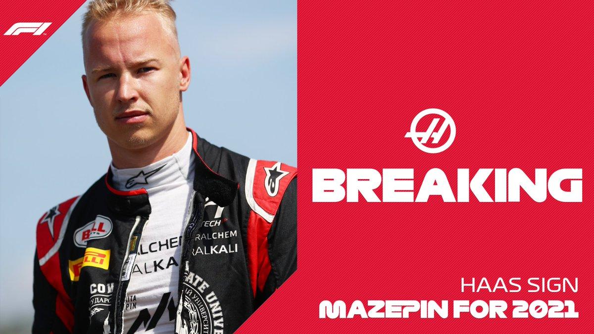 BREAKING: Nikita Mazepin will drive for @HaasF1Team from 2021  #F1 https://t.co/aREEYAuzSb