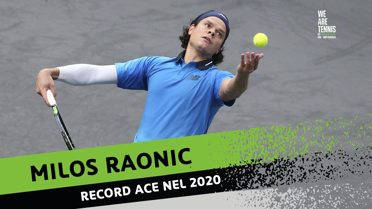 Raonic 👑  degli aces 😎 Capitolo statistiche ATP 2020: con una media di 16 ace a partita Milos Raonic è il re degli ace 2020 davanti al solito John Isner 👇🏽   1️⃣ Raonic 529 2️⃣ Isner 425 (21 ace/match) 3️⃣ Zverev 422 (10 ace/match) 4️⃣ Rublev 411 5️⃣ Opelka 374 https://t.co/jMRK0SjEWr