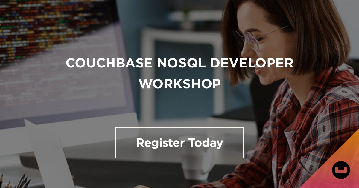 """Join our #Couchbase NoSQL #Developer #Workshop on Tue, Dec. 15. This educational event features a combo of tech presentations, 7 labs where you'll get experience using our """"#SQL for #JSON"""" query language & learning JSON modeling for building powerful apps. https://t.co/ukAU4gpgSA https://t.co/1SGt3jQAIV"""