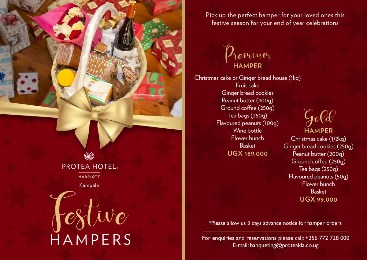 Put a smile on your loved one's face with our cute festive gift hamper.  #ProteaKampala #festiveseason2020 #festivevibes
