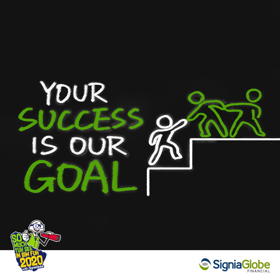 Step by step we are with you. Helping you achieve your goals is what keeps us going. #wegotyourback #MondayMotivation  #thinkoutsidethebank #SigniaGlobe