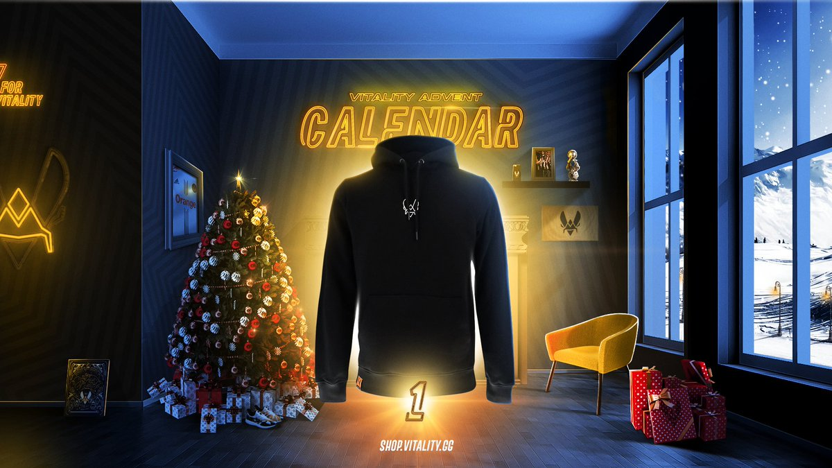 Team Vitality - 🤶 Vitality Christmas advent Calendar 🤶 Christmas time = 1 present a day until the 24th December ❄ Day 1 : Try to win an Element Hoodie. To participate click below 👇👇👇