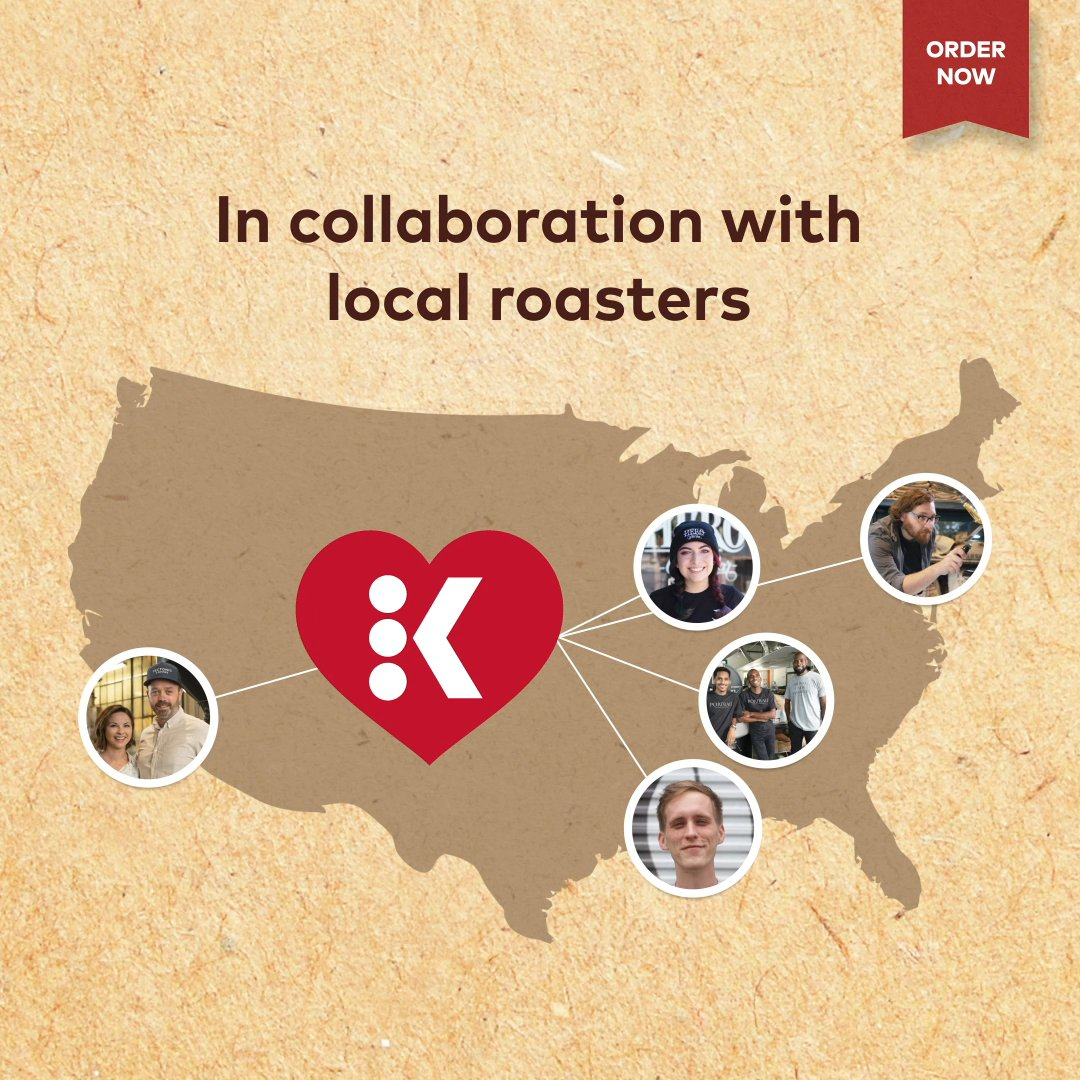 Enjoy craft roasted taste, co-created with love. In collaboration with five local roasters from across America, we created a collection of coffees made using our finest beans from around the world for a smooth and delicious cup. Your purchase supports these roasters.