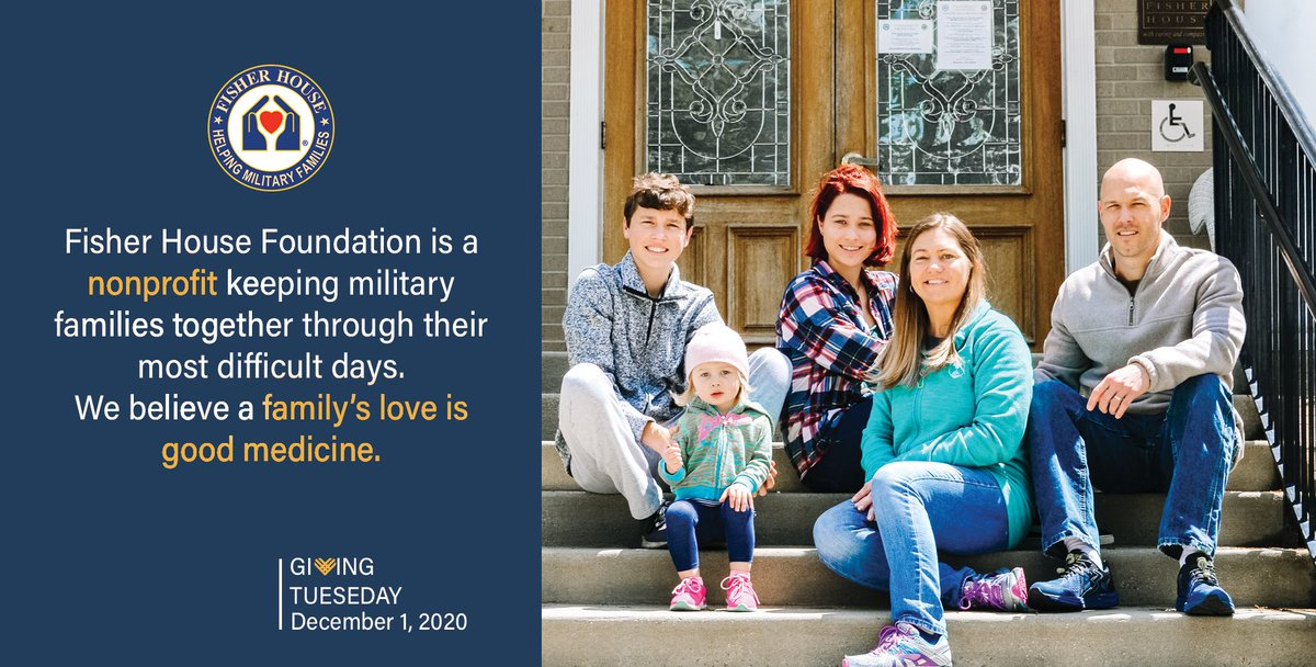 #GivingTuesday isn't just about donating your dollars – donate your time or your voice to support amazing nonprofits like @FisherHouseFdtn. Donate items or simply share their message!
