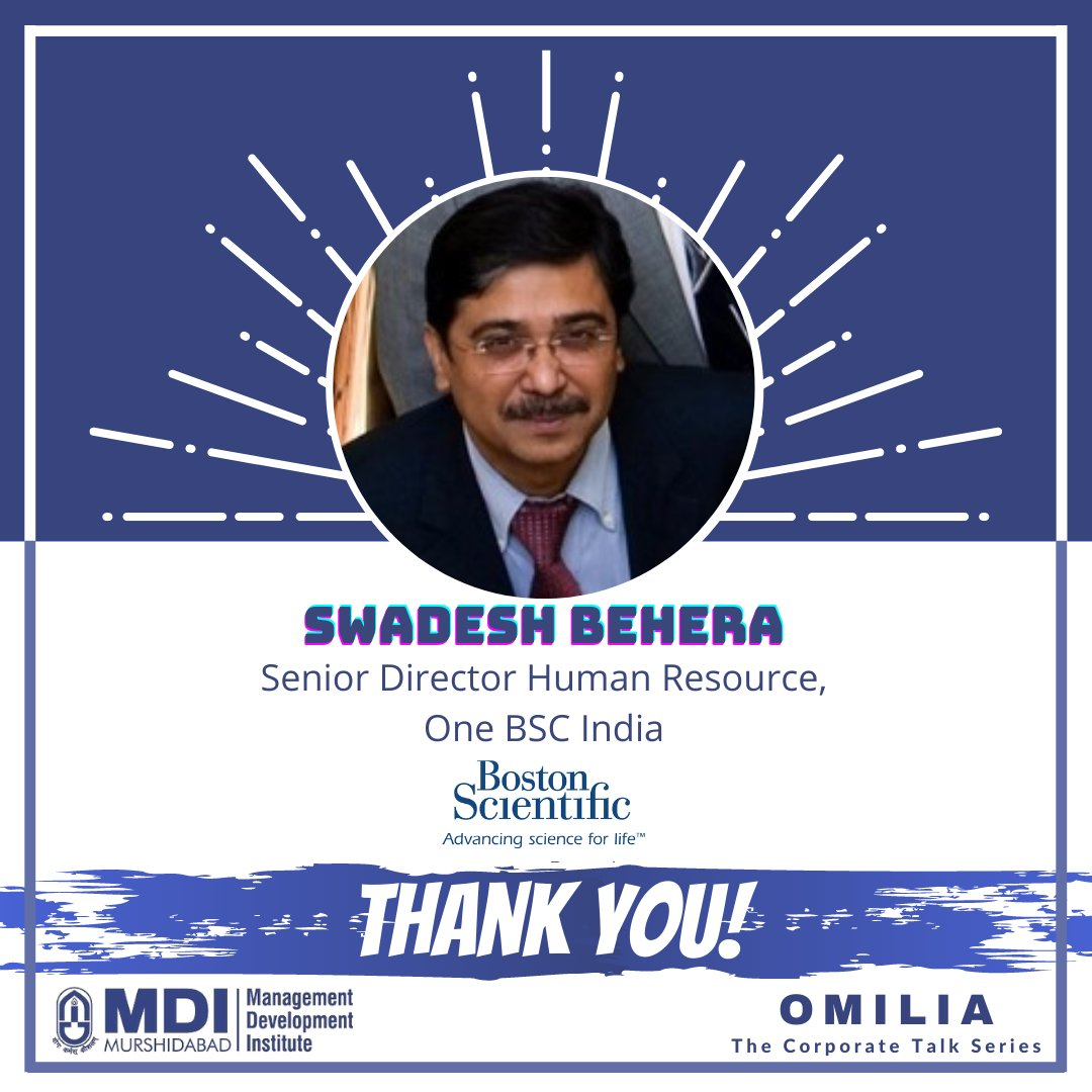 It was a privilege to host Mr. Swadesh Behera, Senior Director of Human Resources, Boston Scientific. We are grateful for the wisdom that Mr. Behera shared with us and look forward to more such interactions in the future.  #MDIM #ManDevIans #HR #Webinar https://t.co/8SCr32V2Ts