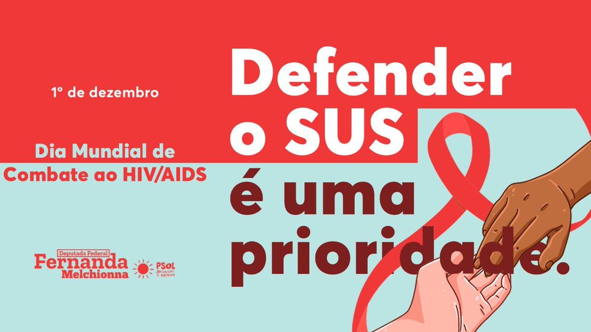 Hoje é o Dia Mundial de Combate ao HIV/Aids e não existe mensagem mais urgente: defender o SUS é uma prioridade. O tratamento só é disponibilizado gratuitamente no Brasil por termos um sistema de saúde público e universal. Qualquer ataque ao SUS é um ataque à Saúde do povo.