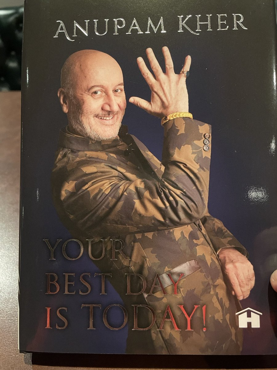 Now reading this by my dear friend ⁦@AnupamPKher⁩ : should be fun!