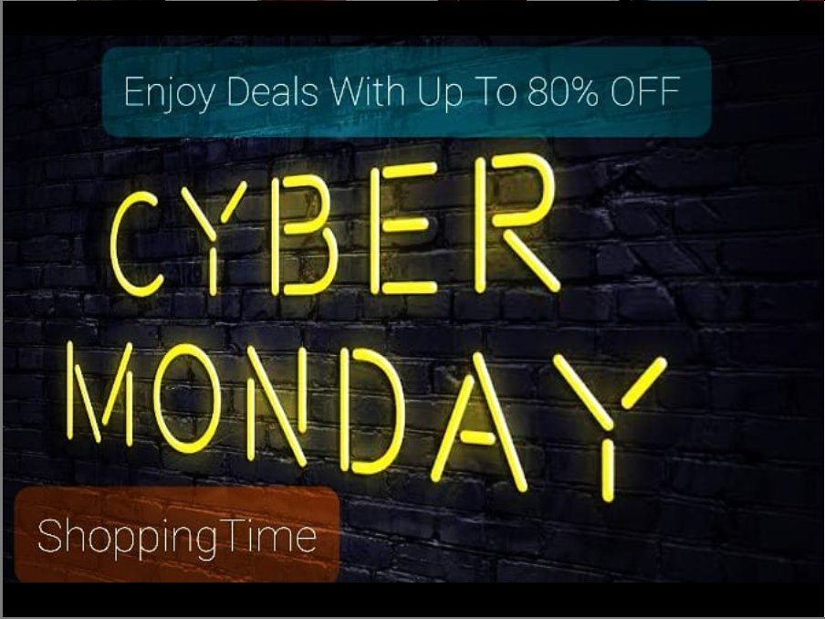 After Black Friday, Cyber Monday Sale is now ongoing! Savings that never ends at @shoppingtimeca Last chance to snap up to 80% OFF Get Coupons, Promo Codes, & Discount Deals from Amazon Nordstrom Aliexpress Best Buy eBay Yoox and other 20+ Stores Visit - https://t.co/TBPHNigs8i https://t.co/x6B0fyXZle