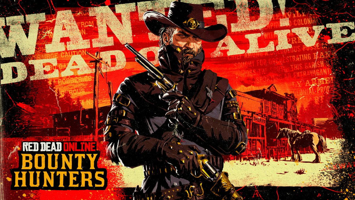 Red Dead Online: Bounty Hunters   Track down new bounty targets and bring them in dead or alive to unlock new high-level items, special skills, new weapon variants and more across 10 prestigious new ranks.   Now available: