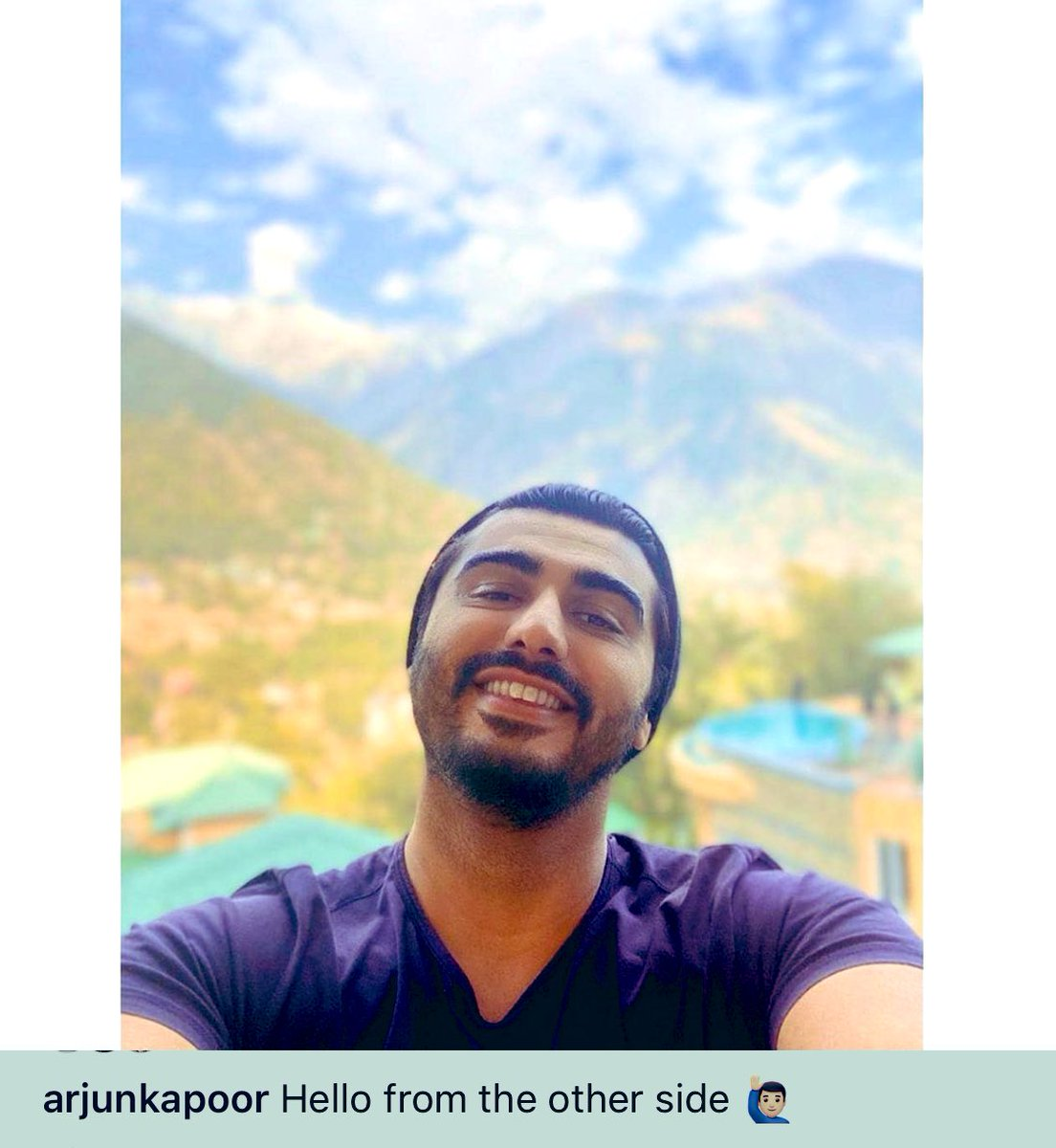 @arjunk26 Big Bear Hugs 🤗 for fulfilling one of the #December wish ✨🌟😀💙💙 Got ur selfie 🤳😋 Keep on Smiling ✨✨ Mr Cuteness why u so handsome 🔥🔥 #LoveU 😘😘💞 All the best for tdy s #BhootPolice shoot 🌈💥 #Palampur #HP  #DecemberToRemember 🌟💫