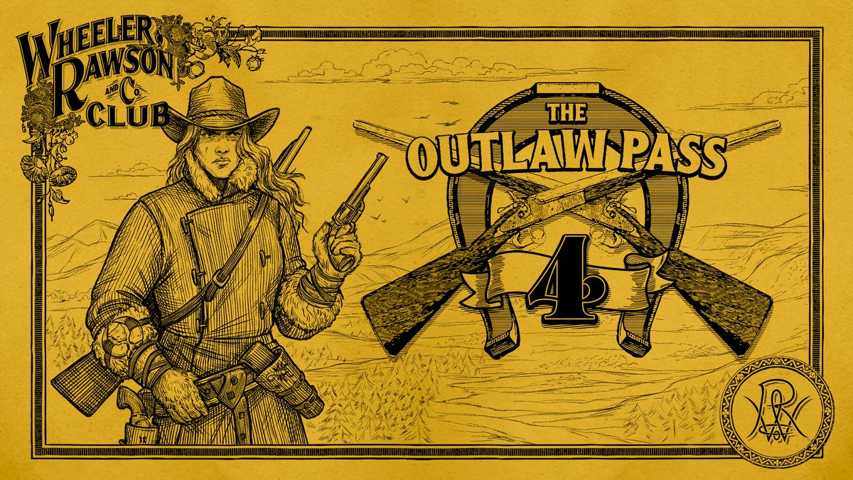 Red Dead Online: The Outlaw Pass No. 4  Featuring an assortment of new rewards, including luxurious warm clothing for cold weather, new satchel and skill pamphlets, advanced photography enhancements, bonus cash and 30 Gold Bars, special gifts and more.